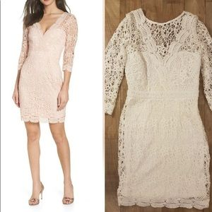Lulu's Cocktail Lace Dress Sz S Small White.